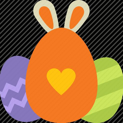 bunny ears, decoration, easter, egg, eggshell, rabbit ears icon