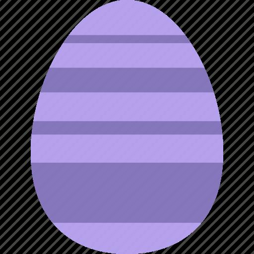 decoration, easter, egg, eggshell, purple icon