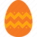 decoration, easter, egg, eggshell, orange icon