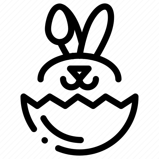 easter, egg, robbit icon