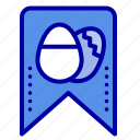 easter, egg, tag icon