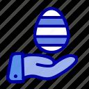 easter, egg, hand, nature
