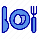 dinner, easter, egg icon