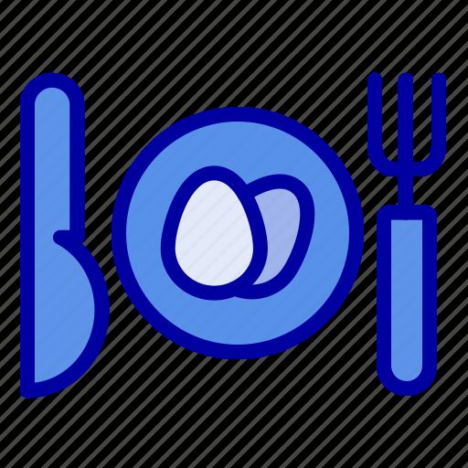dinner, easter, egg icon