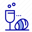 drink, easter, egg, glass icon