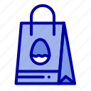 bag, easter, egg, shopping icon