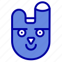 animal, bunnyface, rabbit icon