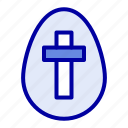 easter, egg, holiday, sign icon