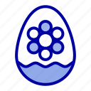 decoration, easter, egg, flower, plant icon