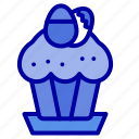 cake, cup, easter, egg, food icon