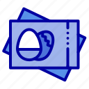 card, easter, egg, passboard icon
