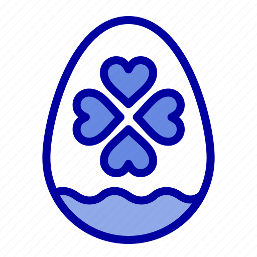easter, egg, heart, love icon