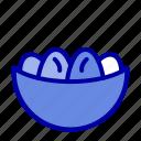 bowl, celebration, easter, egg, nest