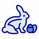 baby, easter, nature, robbit icon
