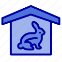 easter, house, nature, robbit icon