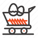 cart, easter, shopping, trolley icon