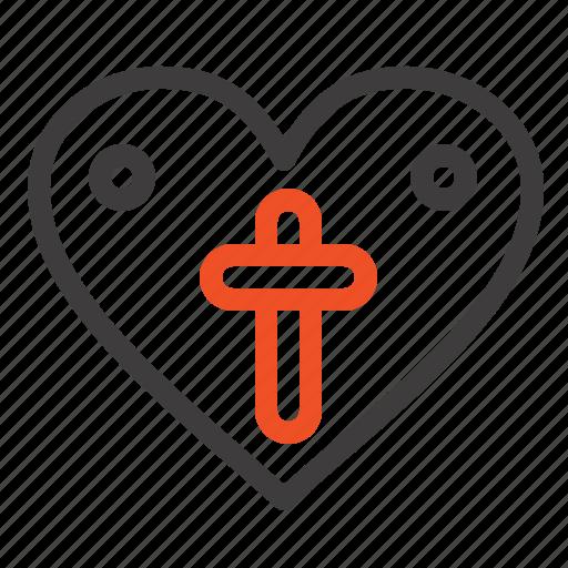 easter, heart, love, loves icon