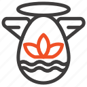 angle, celebration, easter, protractor icon