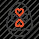 easter, egg, heart, love icon