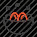 bowl, celebration, easter, egg, nest icon