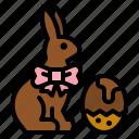 easter, chocolate, egg, bite, dessert