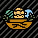 easter, egg, nest, food, culture