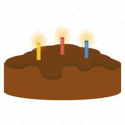 birthday, cake, candle, celebration, chocolate, easter, festival icon