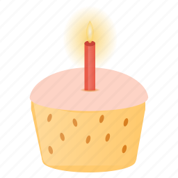 birthday, candle, cupcake, dessert, easter, festival, muffin icon