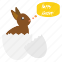 bunny, easter, egg, festival, greeting, happy, wishes icon