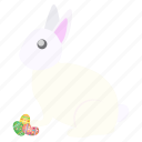 bunny, celebrate, decorated, easter, eggs, festival, rabbit icon