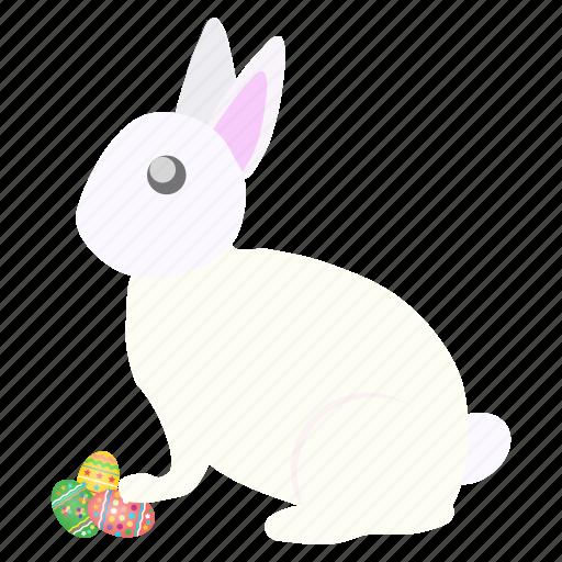 bunny, celebrate, decorated, easter, eggs, festival, rabbit icon