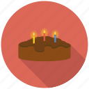 birthday, cake, candle, celebration, chocolate, easter, festival icon