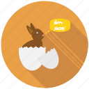 bunny, celebrate, easter, egg, festival, greeting, happy icon