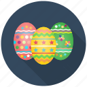 celebrate, celebration, decoration, easter, egg, eggs, festival icon