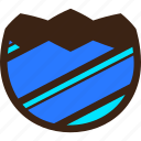 broken, chocolate, diagonal, easter, egg, half, stripes icon