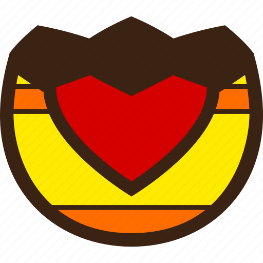 broken, chocolate, decoration, easter, egg, half, heart icon