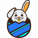 chocolate, diagonal, easter, egg, hatching, rabbit, stripes icon