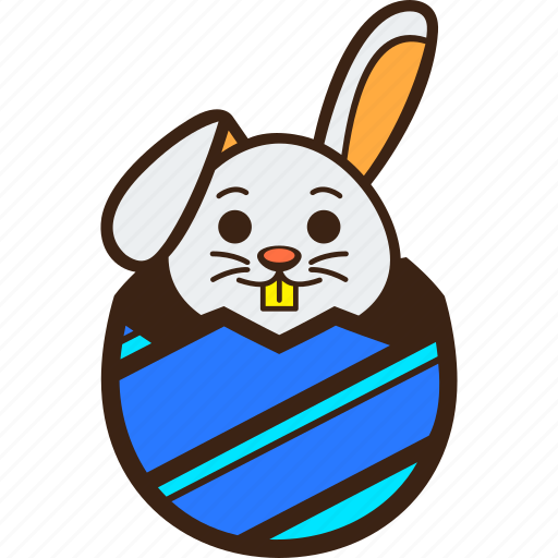 chocolate, diagonal, easter, egg, hatching, rabbit, stripes icon