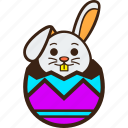 chocolate, easter, egg, hatching, rabbit, stripes, zigzag icon
