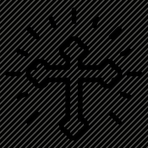 christian, cross, easter, religion icon