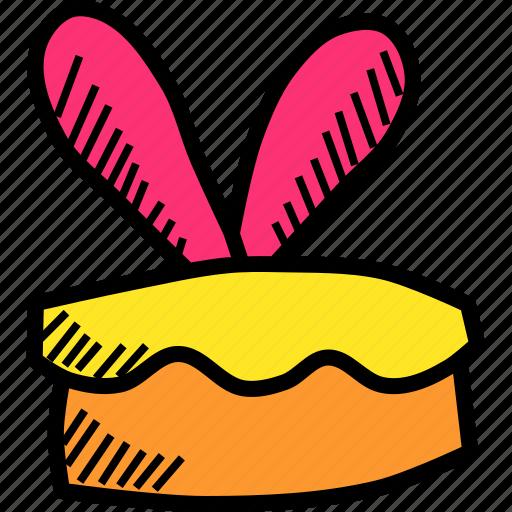bakery, bunny, cake, dessert, ears, easter, rabbit icon