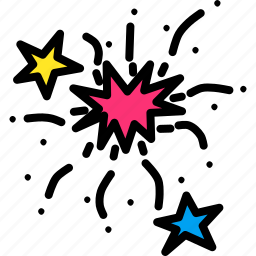 bang, boom, celebration, festival, fireworks, new year, stars icon