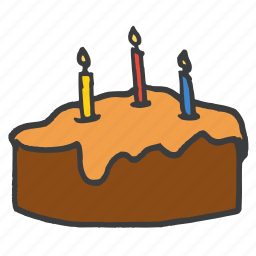 birthday, cake, candle, chocolate, dessert, easter, festival icon