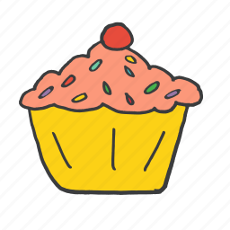 birthday, candle, cupcake, easter, festival, muffin, sweet icon