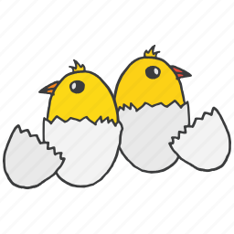 celebrate, chick, chicken, easter, egg, festival, hatch icon