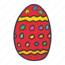 celebrate, celebration, decorated, easter, egg, festival, food icon