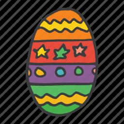 celebrate, celebration, decorated, easter, egg, festival, food icon