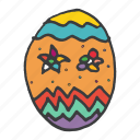 celebrate, celebration, decoration, easter, egg, festival, food icon