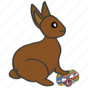 bunny, celebrate, chocolate, decorated, easter, eggs, festival icon