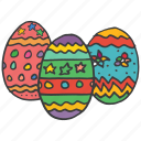celebrate, celebration, decoration, easter, eggs, festival, food icon